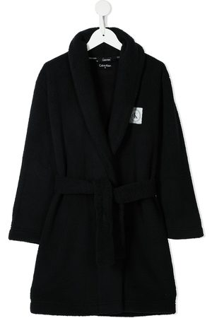Calvin Klein Meisjes Badjassen - Logo-patch fleece bathrobe