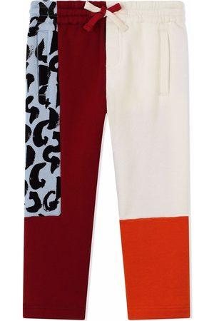 Dolce & Gabbana Jongens Broeken - Drawstring contrast-panel trousers