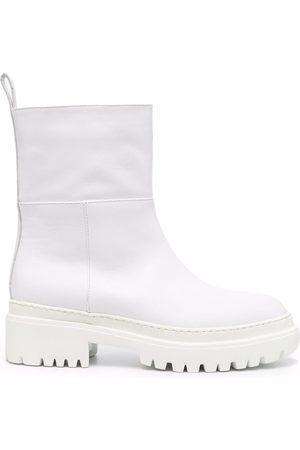 L'Autre Chose Lug sole almond-toe boots