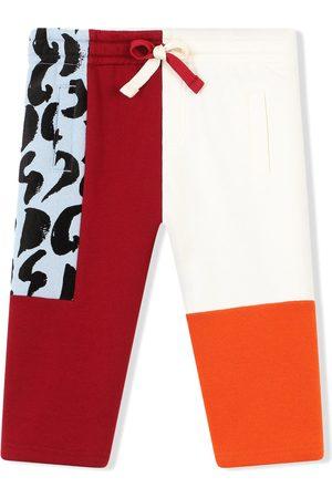 Dolce & Gabbana Colour-block cotton track pants