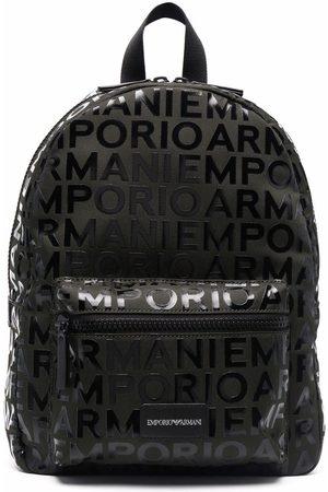 Emporio Armani Jongens Rugzakken - Monogram logo backpack
