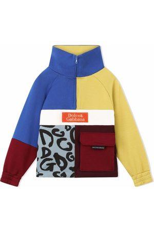 Dolce & Gabbana Colour-block zip-front sweatshirt