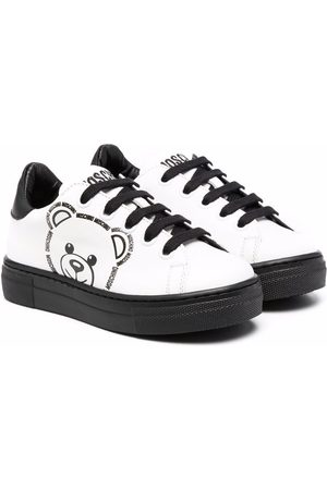 Moschino Logo-print leather low-top sneakers