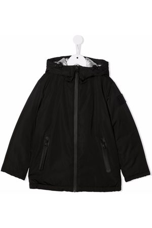 Il gufo Zip-up hooded raincoat