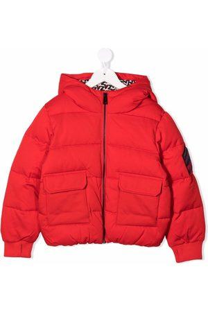Zadig & Voltaire Jongens Donsjassen - Padded hooded zip-up coat