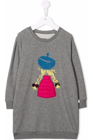 Il gufo Graphic-print sweater dress