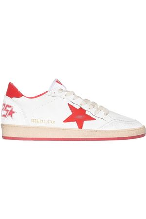 Golden Goose Heren Lage sneakers - BALL STAR NAPPA WHT RED SNK