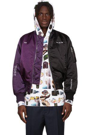 Etudes Purple & Black Martine Syms Edition Horizon Bicolour Bomber Jacket
