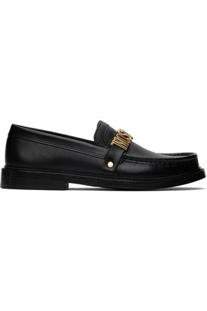 Moschino Dames Loafers - Black Logo Hardware Loafers