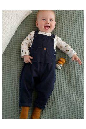 Vertbaudet Baby Set body + overall van denim baby aop - 11-0602 tcx