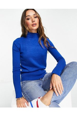 French Connection High neck jumper in blue