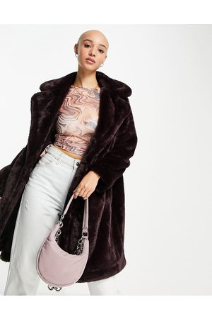 French Connection Faux fur coat in black