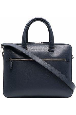 Salvatore Ferragamo Heren Laptotassen - Debossed-logo leather briefcase