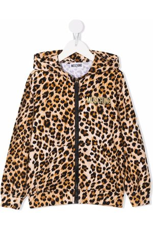 Moschino Leopard-print cotton hoodie
