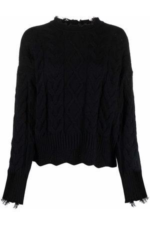 Pinko Dames Gebreide truien - Distressed cable-knit jumper