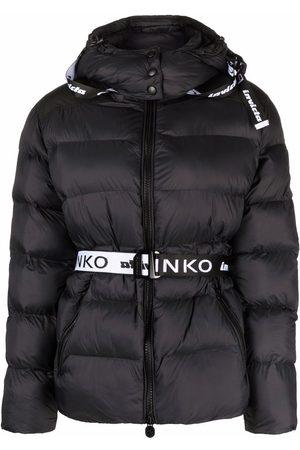 Pinko Dames Donsjassen - Logo belt padded jacket
