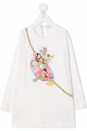 MONNALISA Graphic-print cotton dress