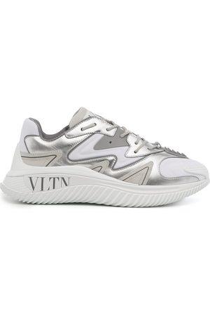 VALENTINO GARAVANI Heren Lage sneakers - Silver panelled sneakers
