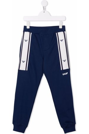 Emporio Armani Stripe trim jersey trousers