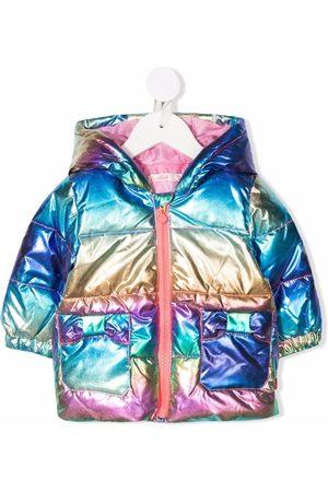Billieblush Donsjassen - Metallic-effect hooded padded jacket