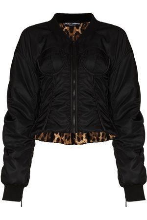 Dolce & Gabbana Dames Bomberjacks - D G CN LS ZIP UP CORSET NYLON BOMBER JKT