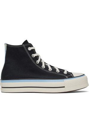 Converse Dames Sneakers - Black & Blue Chuck Taylor All Star Lift Hi Sneakers