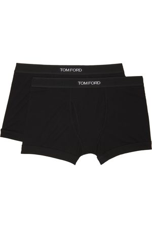 Tom Ford Heren Ondergoed - Two-Pack Black Cotton Boxer Briefs
