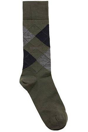 HUGO BOSS Heren Sokken - Sokken met normale lengte, van een wolmix met argyledessin
