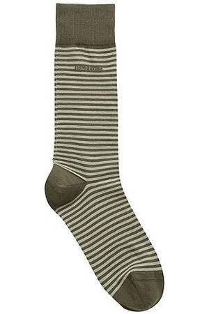 HUGO BOSS Heren Sokken - Gestreepte sokken van gekamde stretchkatoen met normale lengte