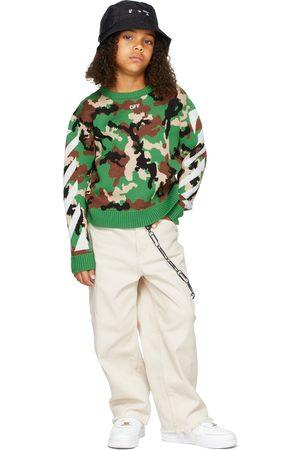 OFF-WHITE Sweaters - Kids Virgin Wool Camoflage Pattern Sweater
