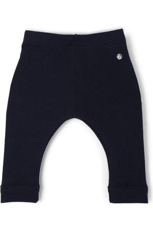 Petit Bateau Baby Leggings - Baby Cotton Jersey Logo Leggings