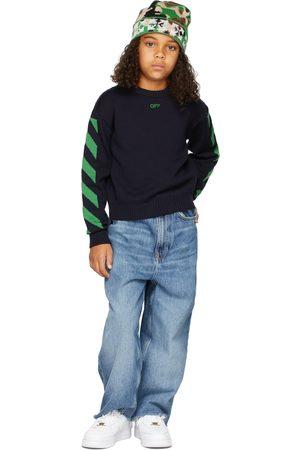 OFF-WHITE Sweaters - Kids Virgin Wool Diagonal Sweater