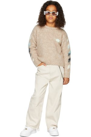 OFF-WHITE Kids Alpaca Brushed Sweater