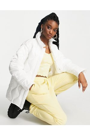 ASOS Onion quilt padded jacket in white