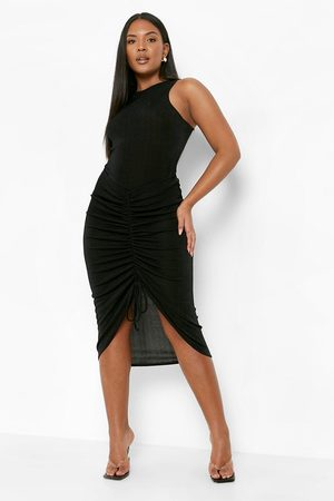 Boohoo Outfit sets - Plus Slinky One Piece And Ruched Skirt Co-Ord