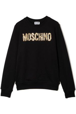 Moschino Meisjes Sweaters - Logo-print cotton sweatshirt