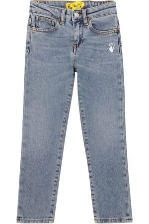 OFF-WHITE Meisjes Slim - Diagonal slim-fit jeans