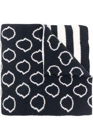 Moncler Meisjes Sjaals - Logo intarsia-knit wool scarf