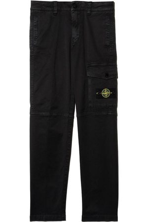 Stone Island Jongens Cargo's - Logo-patch cargo trousers
