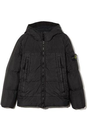 Stone Island Hooded puffer coat
