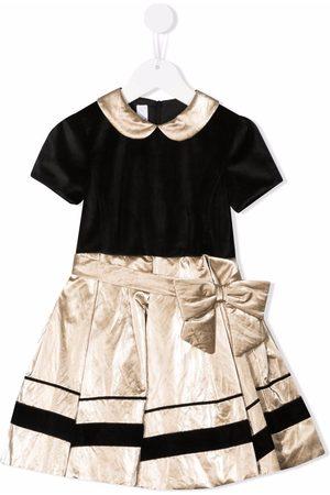 COLORICHIARI Meisjes Feestjurken - Velvet-effect pleat-skirt dress