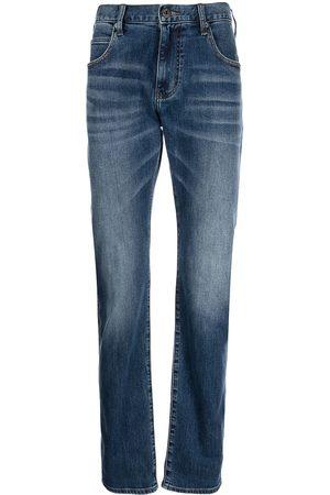 Emporio Armani Heren Straight - Mid-rise straight-leg jeans