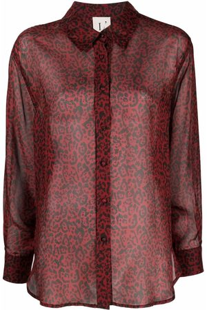 L'Autre Chose Leopard-print silk shirt