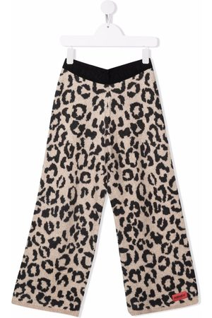 Kenzo Animal-print knitted trousers