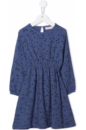 Tiny Cottons Daisies-print flared dress