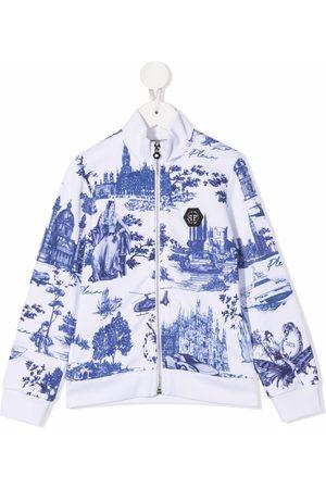 Philipp Plein Meisjes Bomberjacks - Tile-print bomber jacket