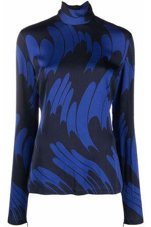 Stella McCartney Abstract-print high-neck top