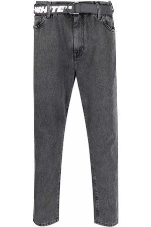 OFF-WHITE Heren Straight - Belted straight-leg jeans