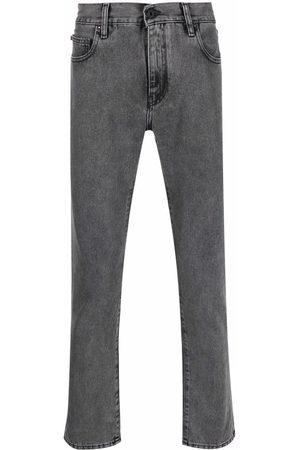 OFF-WHITE Heren Slim - Diag-stripe print slim-fit jeans