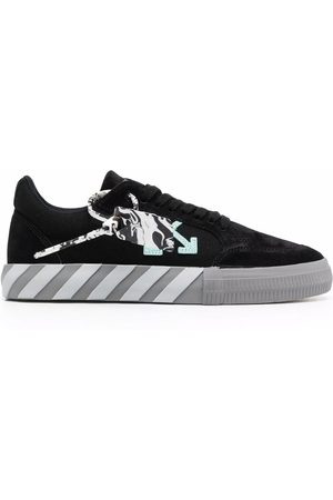 OFF-WHITE LOW VULCANIZED CANVAS/SUEDE TURQUO